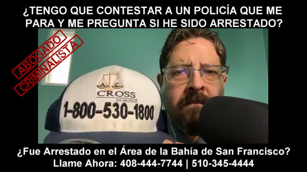 contestar a un policía