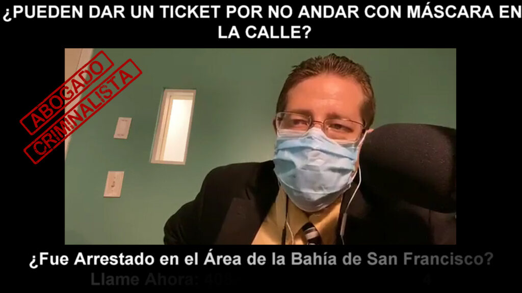 UN TICKET POR NO ANDAR CON MÁSCARA