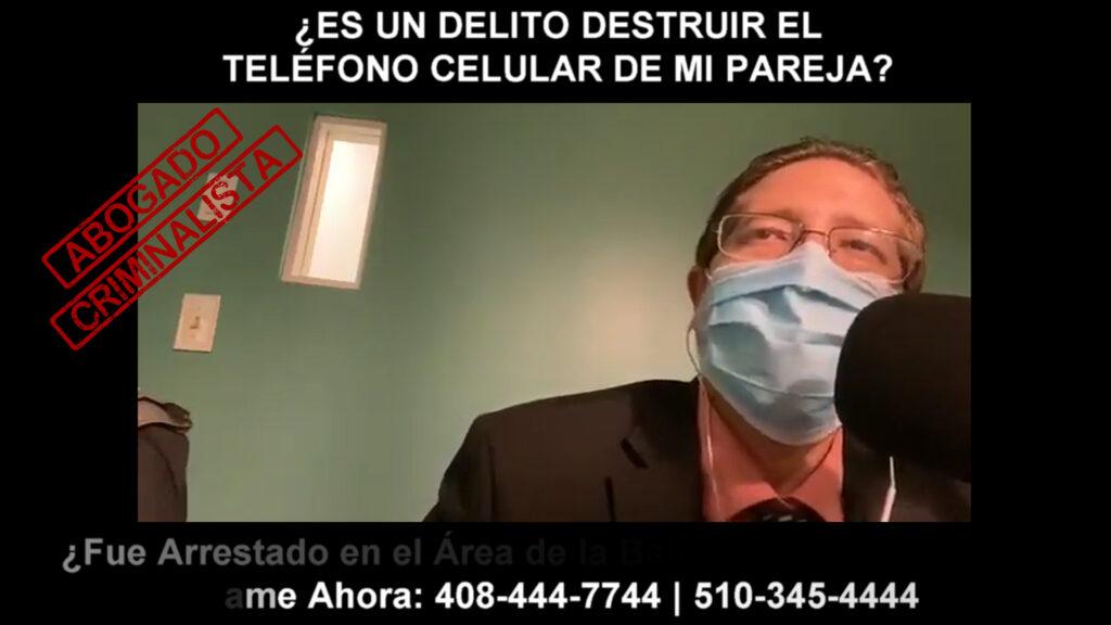 DELITO DESTRUIR EL TELÉFONO