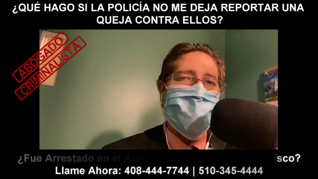 LA POLICÍA NO ME DEJA REPORTAR UNA QUEJA CONTRA ELLOS