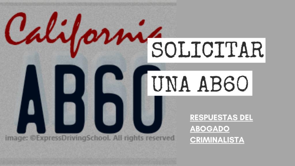 PUEDO SOLICITAR UNA AB60