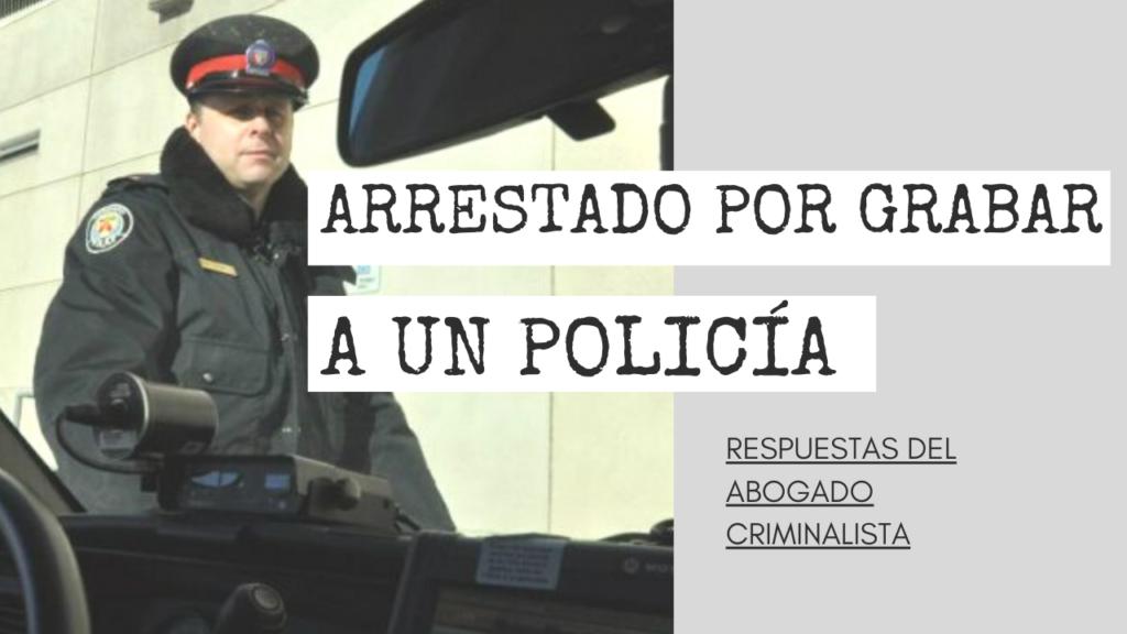 POLICÍA PEDIR QUE APAGUE UNA CÁMARA
