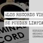 ¿LOS RECORDS VIEJOS SE PUEDEN LIMPIAR?