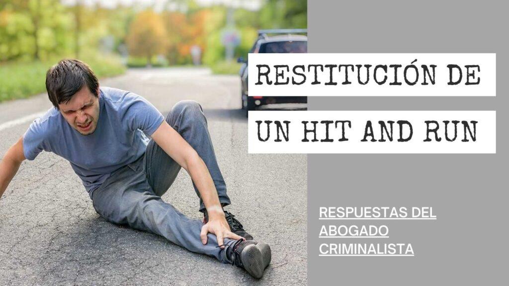 RESTITUCIÓN DE UN HIT AND RUN